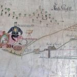 Parergon from a general map of mines in Nová Baňa from 1800
