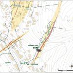 Mapka – schematický náčrt blízkeho okolia štôlne v podrobnej mierke spolu s banským polohopisom