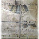 Vertikálny rez šachtou Narodenia Panny Márie od J. Lilla (1781)