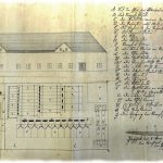 Project for the construction of ore processing plant from 1837 with the legend of technical equipment