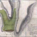 Mapa vodnej nádrže a systému vodných jarkov zo začiatku 19. storočia
