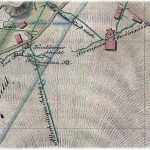 Výrez z historickej mapy z r. 1833 – okolie farského kostola a šachty Maximilián