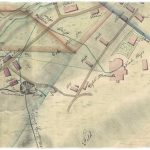 A section of the historical map from 1833 – the Parish Church and the Maximilián Shaft area